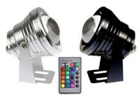 10W RGB Proiettore luce subacquea LED luce di inondazione Piscina di stagno Lampada spot Illuminazione esterna impermeabile con telecomando DC 12V MYY