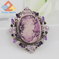 Charm Brooches Classic Vintage Style Retro Cameo Beauty Quee...