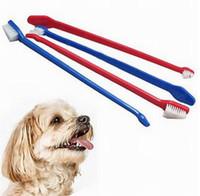 200 pz vendite calde Pet Supplies Cat Puppy Dog Dental Grooming Spazzolino Colore Consegna Casuale DHL FEDEX UPS SF trasporto veloce