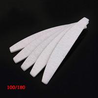 Hot 100 PC / Los Sand Papier professionelle 100/180 grau Zebra Halbmond Feile für Salon freies Einkaufen gute Qualität Maniküre Schleifen