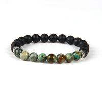 Novos Projetos de Verão Pulseira Atacado 10 pçs / lote 8mm Matte Ágata Pedra com Turquesa Africano Beads Pulseiras