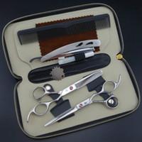 Forbici professionali per parrucchieri set 62HRC Straight Thinning cutting con pettine per capelli taglio forbici set spedizione gratuita