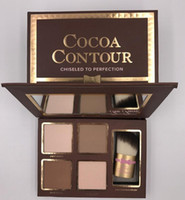 COCOA Contour Kit Highlighters Palette Nude Color Cosmetics Face Concealer Makeup Chocolate Eyeshadow with Contour Buki Brush