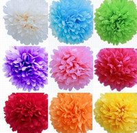 new 12 Colors Tissue Paper Pom Poms Blooms Flower Balls Pack...