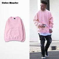 Wholesale- Pink Hoodies Men 2016 Autumn Mens Hip Hop Fleece S...