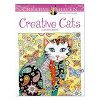 creative cats coloring books adult children gifts 2017 new arrival secret garden series painting books wholesale decompression drawing book - Wholesale Coloring Books