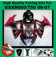 ABS fairings لجهاز GSXR600 06 07 GSXR750 SUZUKI GSX-R600 GSX-R750 2006 2007
