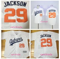 29 Bo Jackson Jerseys Baseball Jersey White Throwback VINTAG...