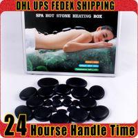 Mala de viagem 28pcs Pedras da massagem com pedras quentes Terapia Detox liberar toxinas eliminar a fadiga dor de corpo Sculpturing