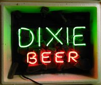 "17"" x14"" DIXIE BEER CUSTOM REAL GLASS TUBE NEON LIG..."