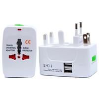 Spina elettrica Presa alimentazione a parete Adattatore da viaggio internazionale Presa da viaggio universale Convertitore caricatore di corrente USB EU UK US AU Plug