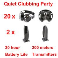 Casque professionnel silencieux Disco 20 avec émetteur 2 canaux - RF sans fil pour iPod MP3, musique DJ