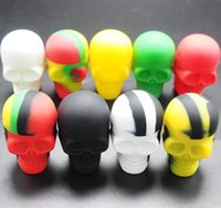 Assort Colors 15ML 3MLSkull Silicone Container Wax Dab Jar P...