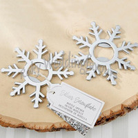 FREE SHIPPING 50PCS Silver Snowflake Bottle Openers Bridal S...