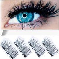 3D Magnetic Falso Cílios Natural Beauty Não cola reutilizável Eye Lashes Handmade Extensão