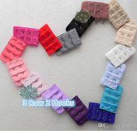 Vente en gros - Lingerie Intimates Accessoires Soutien-gorge Extender Strap Extension 3 4 5 Crochets Clip Fournitures Crochets de rechange 0064