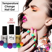 Wholesale- FOCALLURE Soak- off Nail Art UV Gel Changing Colors...