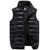 2019 Inverno Marca Mens giù Casual Vest Designer giù Vest Gilet Homme Moda spessa calda giacca senza maniche per gli uomini Plus Size