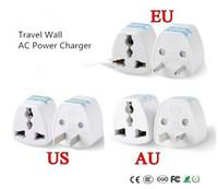 새로운 1PC 유니버설 미국 영국 AU EU 플러그 유럽 유로 여행 벽에 AC 전원 충전기 콘센트 어댑터 컨버터 2 라운드 소켓 핀