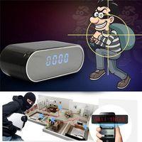 Wifi horloge mini IP P2P Caméra 1080P avec vision nocturne 160 degrés Réveil de l'angle de 160 degrés DVR Monitor Télécommande Home Security Caméra de nounou