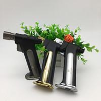 COHIBA 전용 제트기 토치 라이터 블랙 방풍 형 리필 가능 가스 가스없이 시가 라이터 및 선적