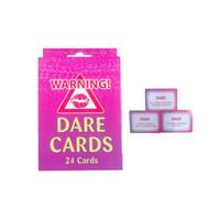 24 pcs Dare Card Girl Out Night Rassemblement Jeux Partie De Poule Bachelorette Rassemblement Adulte Sexe Stag Party Jeux Fournitures ZA2992