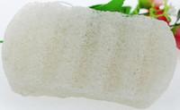 Forma cuadrada grande 100% natural negro Konjac esponja natural Konjac Konnyaku jalea fibra cara lavado baño de limpieza esponja soplo