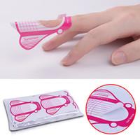 All'ingrosso 100pcs Nail Forms punte acrilico Adesivo estensione del gel professionale Nail Polish Curl Formes Nail Guida forma d'arte
