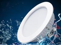 Wodoodporna dioda LED Downlight IP65 Wpuszczane światło 5W 12W 15W 18W AC85-265V SMD Round LED LED Sufit Light LLFA