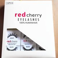 RED CHERRY Faux Cils #WSP # 523 # 43 # 747M # 217 Maquillage Professionnel Faux Nature Longs Cils Croisés Ailés Cils Wispies Extension