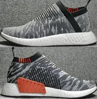 Very popular grey NMD CS2 PK GREY SHOCK PINK Running Sneaker...