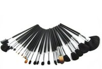 24pcs 전문 화장품 메이크업 브러쉬 세트 키트 도구 + 검은 주머니 가방