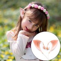 Fee Lebendige Elf Ohr Kopfhörer Kostüm Cosplay Geist HIFI Stero Ohrhörer Headset Für Smartphone MP3 / 4 Kinder Erwachsene mit Mikrofon 3,5mm