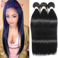 Brazilian Straight Human Hair Weaves 100% Unprocessed Brazil...