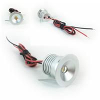 Водонепроницаемый IP65 Мини Светодиодный светодиодный светильник 1W подземные лампы DC12V вырез 25 мм Spot Light для ювелирных изделий витрина освещения
