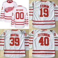 2017 Centennial Classic Premier Jersey 100 Aniversário 15 Riley Sheahan 39 Anthony Mantha 72 Andreas Athanasiou Detroit Red Wings Jersey
