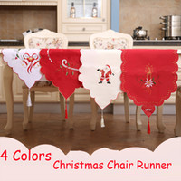 Christmas Table Runner 40*170cm European Embroidered Hollow ...