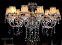 Lampes continentales Crystal Light Lustre Silver Salon Salon Atmosphère Lampe de penthouse minimaliste