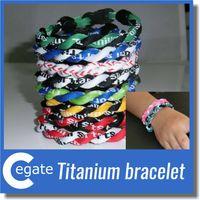 En gros -2 cordes tornade Bracelet 2 cordes Tornado Germanium Titanium Bracelet, bracelet de sport athlètes