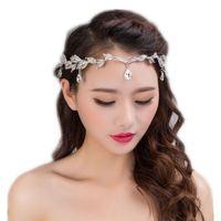 Gümüş tiara taç ile rhinestone gelin saç aksesuarları gelin headpieces taç headpieces düğün headdress aksesuarları için