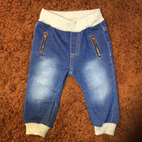 Baby Boy Long Pants Denimm Zipper Solid Pants Spring Autumn ...