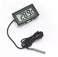 2017 Professinal Mini Digital LCD Probe Frigorífico Termômetro Aquecedor Termômetro Termografia Temperatura para Frigorífico-50 ~ 110 Graus