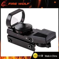 Fire Wolf Jakt Taktisk 20mm eller 11mm Holografisk 1x22x33 Reflex Röd Grön Dot Sikt Omfattning för Jakt