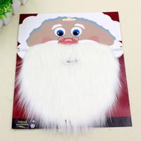 Natale Santa Bianco Finto barba Baffi baffi Unisex Fancy Dress Xmas Cosplay Party Stage Performance Puntelli ZA3585