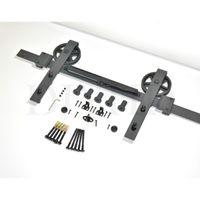 (USA Kostenloser versand) 5ft / 6ft / 8ft Absenkautomatik Vintage Strap Speichen Riesenrad Schiebe Scheune Holz Tür Hardware Track Kit Set