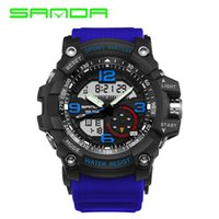 2019 new fashion mens watches sports LED digital analog watc...