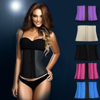 Freeshipping! 2 Layers 9 Steel Boned latex waist trainer Wai...