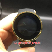 Fashion brand digital display watch electronic battery gold ...
