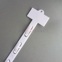 L785mm PP Plástico Al Por Menor Colgando Productos de Mercancía Clips Tiras W19mm Productos Pantalla Para La Tienda Al Por Menor Promoción 80 unids