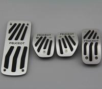 Autozubehör für Peugeot 2008 207 CC SW GTI / RC 208 GTI 308cc Gaspedal Kraftstoff Bremsfußstütze AT / MT Pedal Pad Plate Aufkleber 05